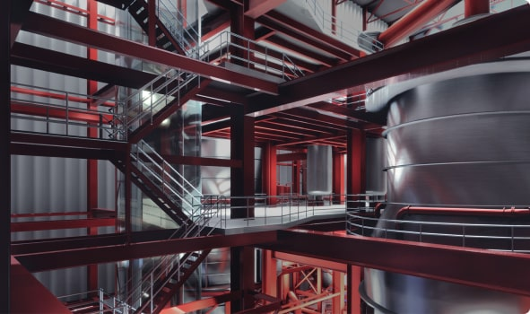 VR Visualization of a Mining Plant: